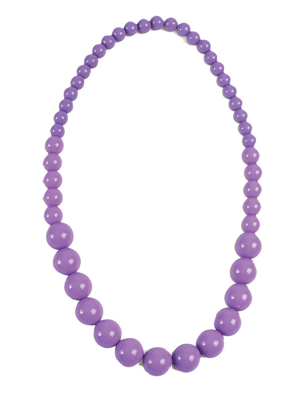 Pop Art Big Pearl Necklace Lavender