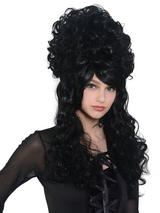 Adult Ladies Beehive Panto Wig Black