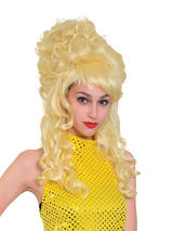 Adult Ladies Beehive Panto Wig Blonde