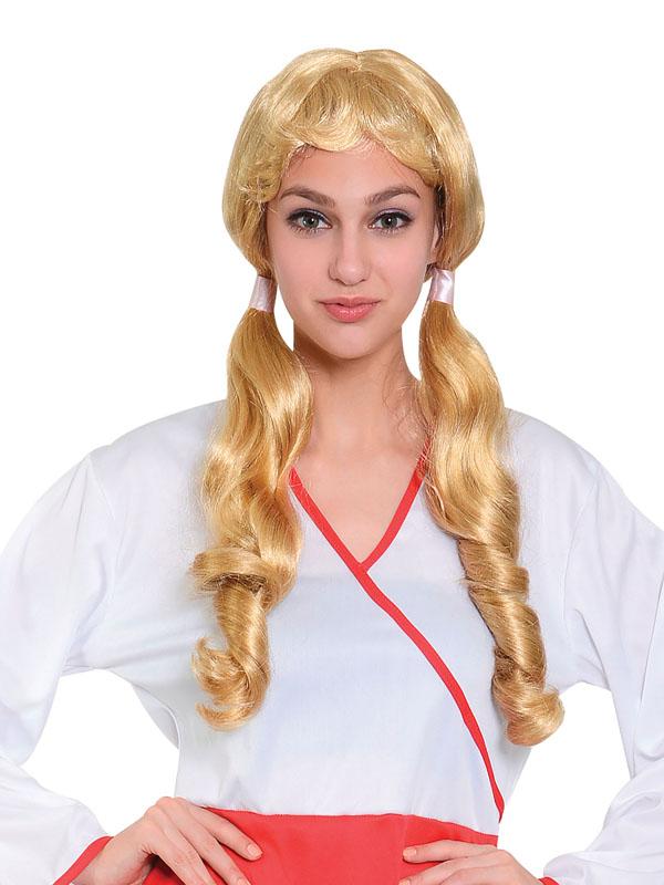 Adult Ladies Pigtail Wig Long