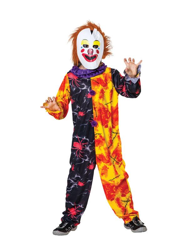 Child-Ages-5-10-Zombie-Clown-Costume-Boys-  sc 1 st  eBay & Child Ages 5-10 Zombie Clown Costume Boys Scary Halloween Fancy ...