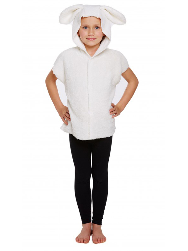 Child Sheep Costume Tabard With Hood