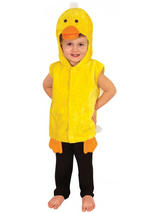 Child Yellow Duck Costume Tabard With Hood