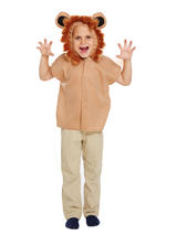 Child Lion Costume Tabard With Hood
