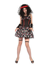 Day Of The Dead Skull Dress Costume