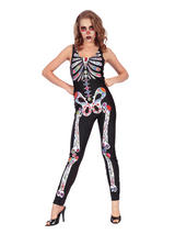 Day Of The Dead Jumpsuit Costume