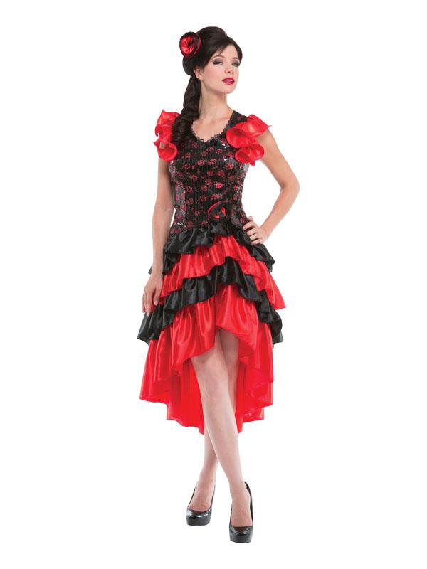 Adult Ladies Spanish Senorita Fancy Dress Flamenco Dancer