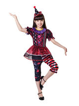 Child Girls Halloween Clown Girl Costume