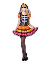Day Of The Dead Lady Rainbow Costume