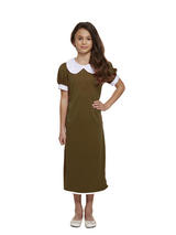 Child Evacuee Girl Brown Costume