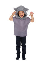 Child Big Bad Wolf Animal Fancy Dress Costume Boys Red Riding Hood Book Week Day
