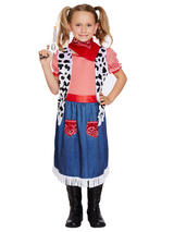 Child Cowgirl Denim Costume