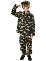 Child Army Boy Costume