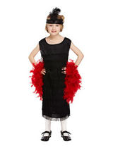 Child Flapper Black With Tassels Costume