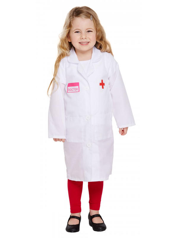 Child Doctor Girl Costume Thumbnail 2