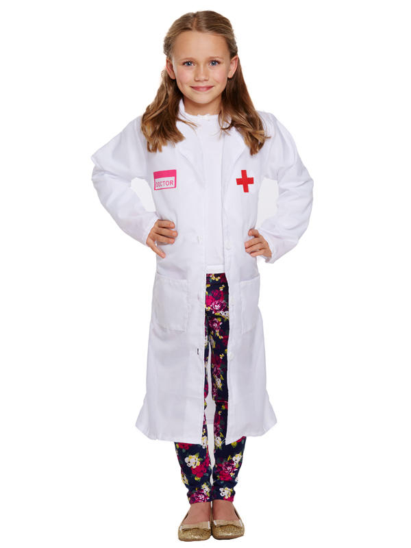 Child Doctor Girl Costume Thumbnail 1