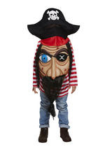 Child Pirate With Jumbo Face Costume