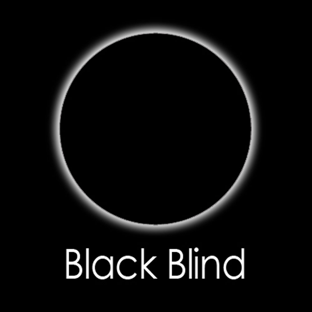 Black Blind Fashion Lenses