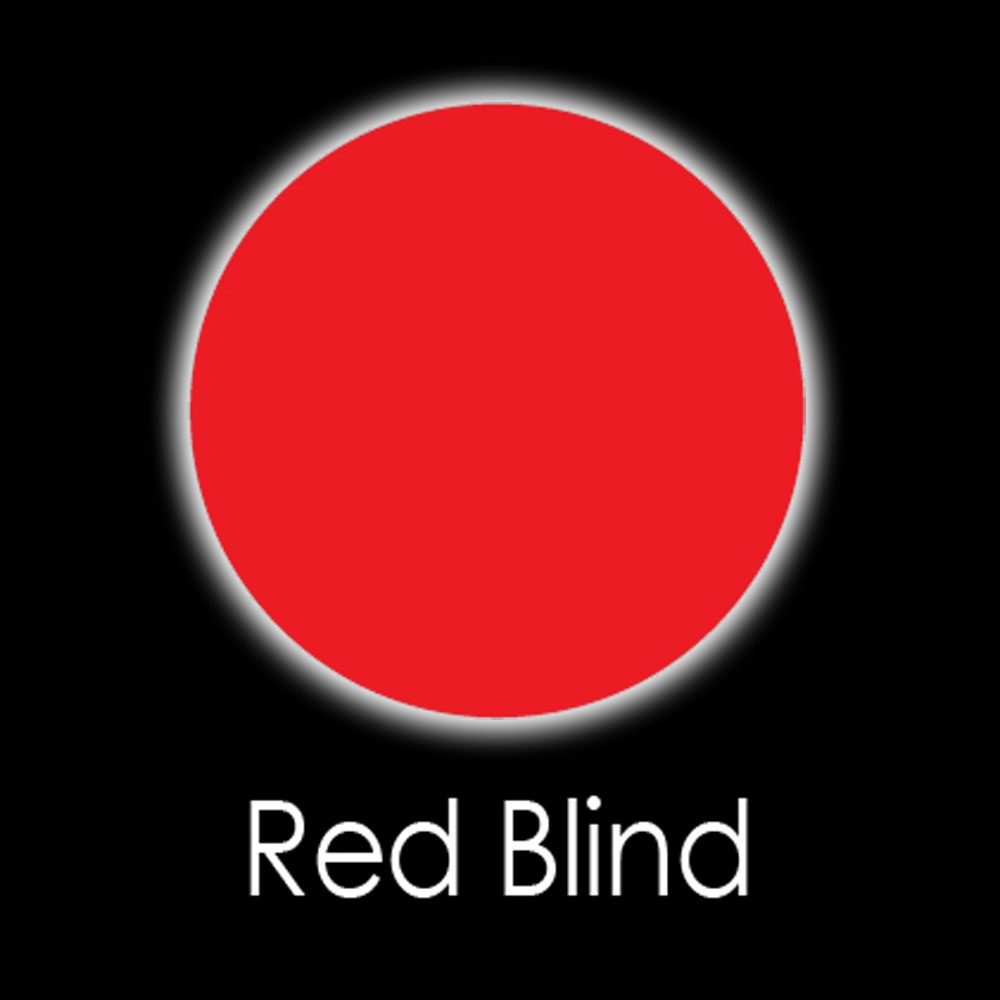 Red Blind Fashion Lenses