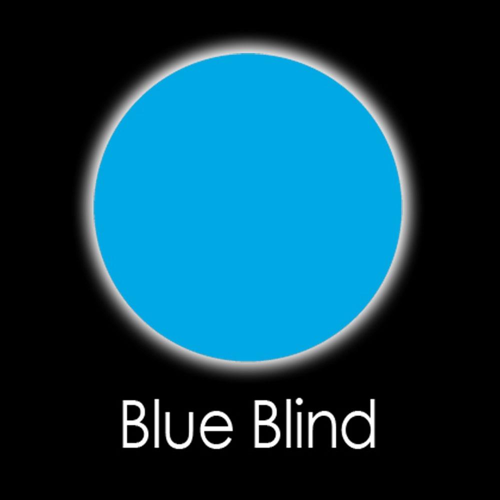 Blue Blind Fashion Lenses