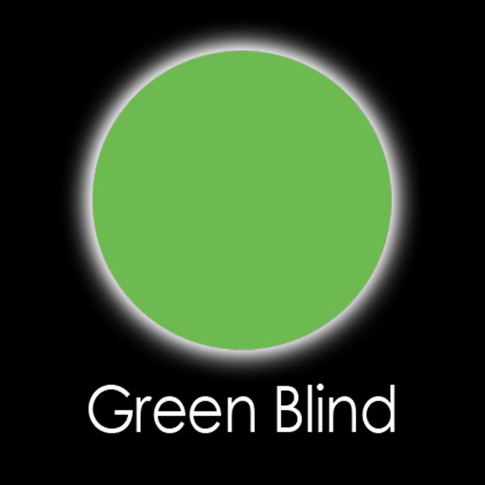 Green Blind Fashion Lenses