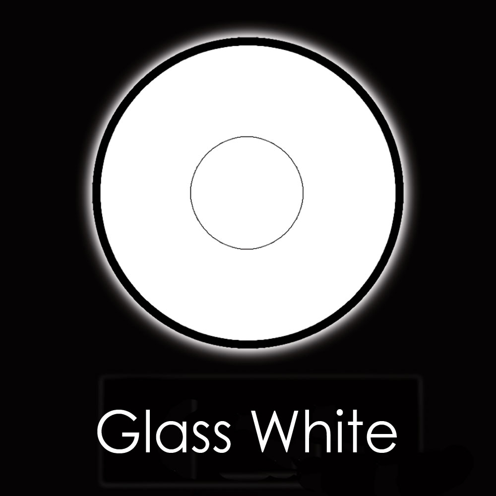 U.V Glass White Fashion Lenses