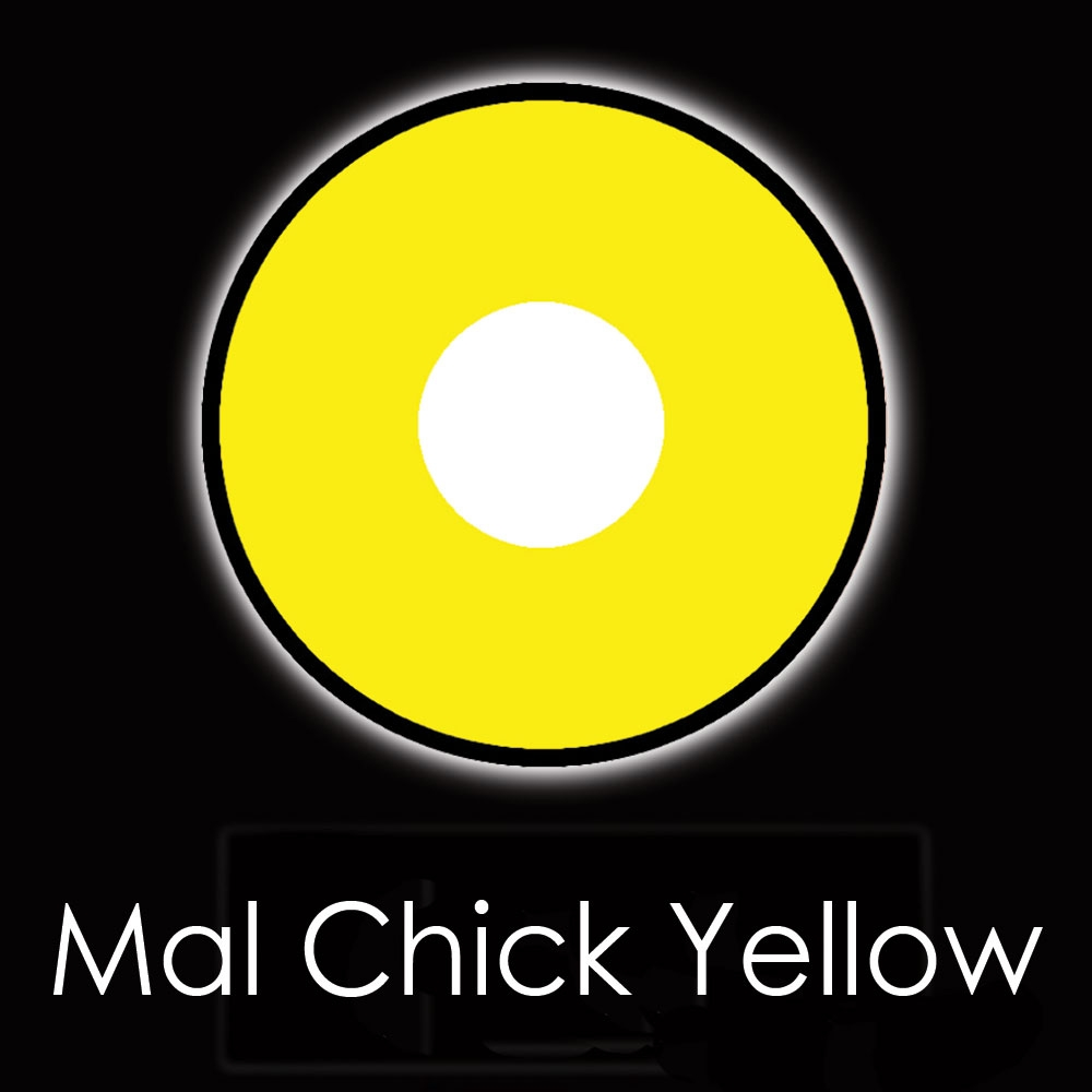 U.V Mal Chick Yellow Fashion Lenses
