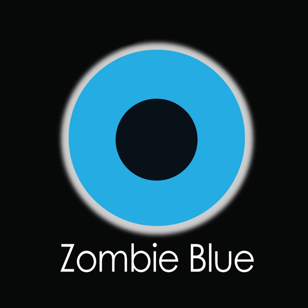 Zombie Blue Fashion Lenses