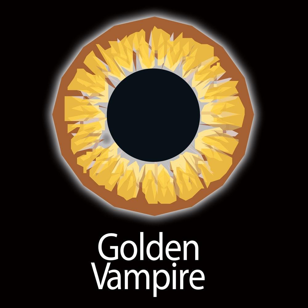 Golden Vampire Fashion Lenses