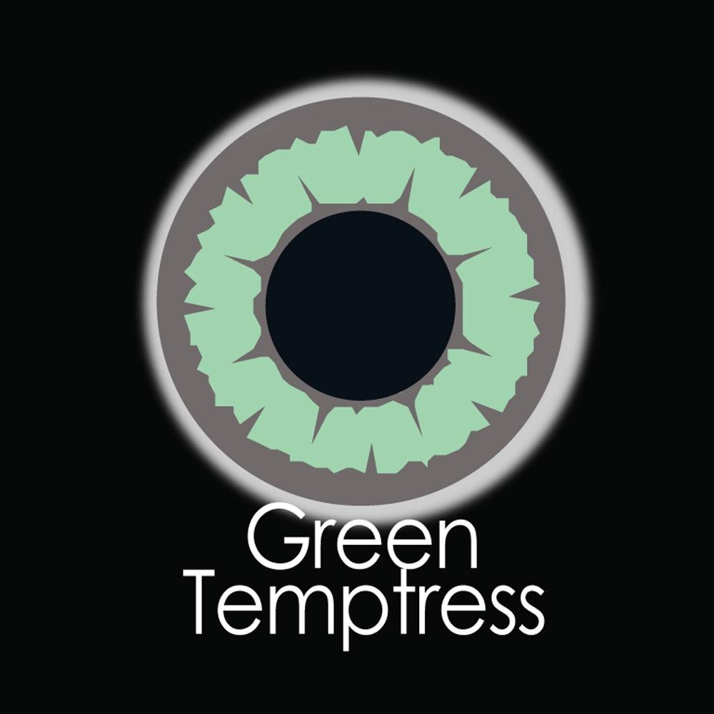 Green Temptress Fashion Lenses