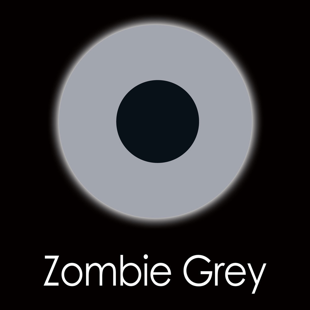 Zombie Grey Fashion Lenses