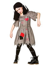 Child Girls Freaky Voodoo Doll Costume Dress