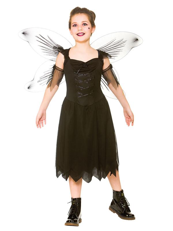 Child Girls Dark Fairy Costume