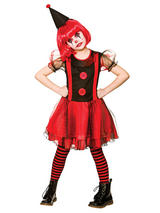Child Girls Freaky Clown Costume