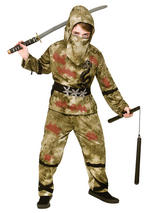 Child Boys Zombie Ninja Costume