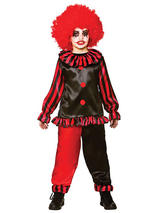 Child Boys Evil Clown Costume