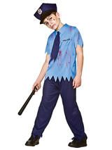 Child Boys Zombie Cop Costume