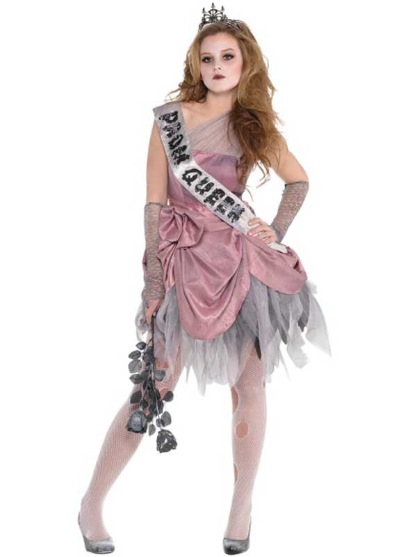 Child Girls Zom Queen Costume