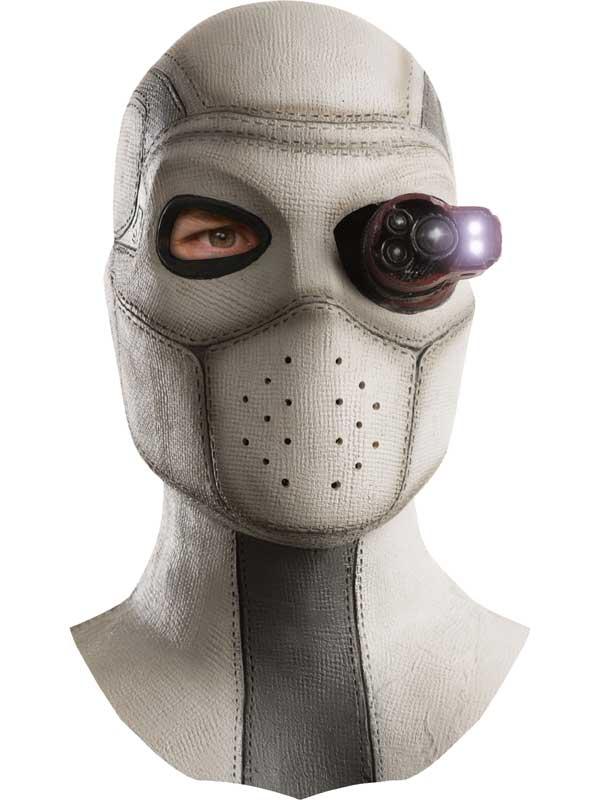 Adult Mens Deadshot Latex Light Up Mask