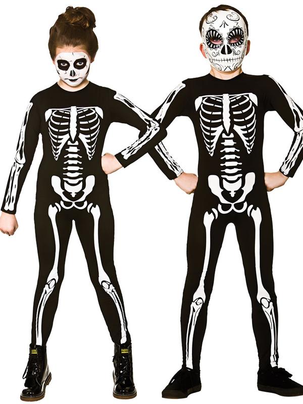 Child Skeleton Jumpsuit Costume
