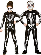 Child Skeleton Jumpsuit Costume