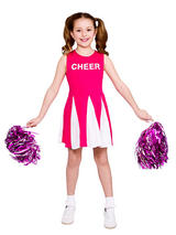 Child Cheerleader Hot Pink Costume