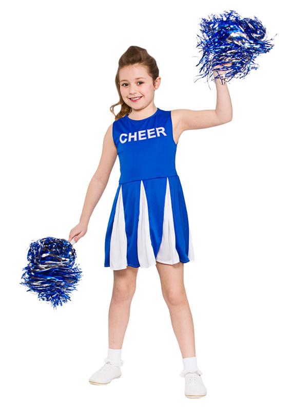 Child Cheerleader Blue Costume