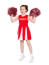 Child Cheerleader Red Costume