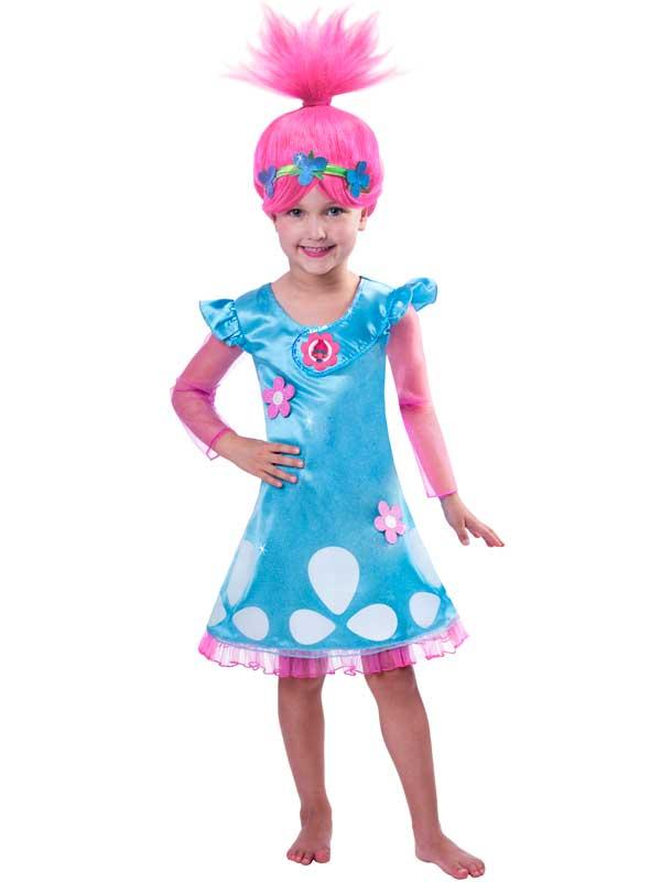 e6feaaac97c6 Sentinel OFFICIAL UK Child Trolls Poppy Troll Fancy Dress Costume & Wig  Kids Girls Outfit