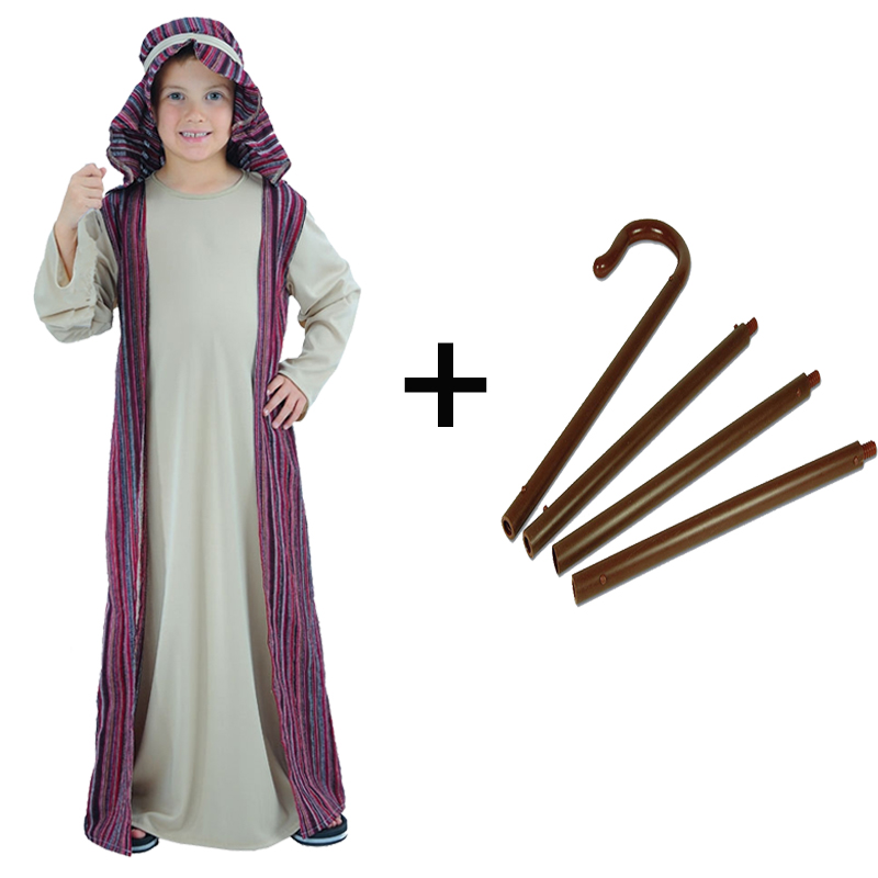 Kids Boys Shepherd Joseph Nativity Christmas Play Fancy Dress ...