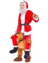 Ride A Reindeer Costume Mascot