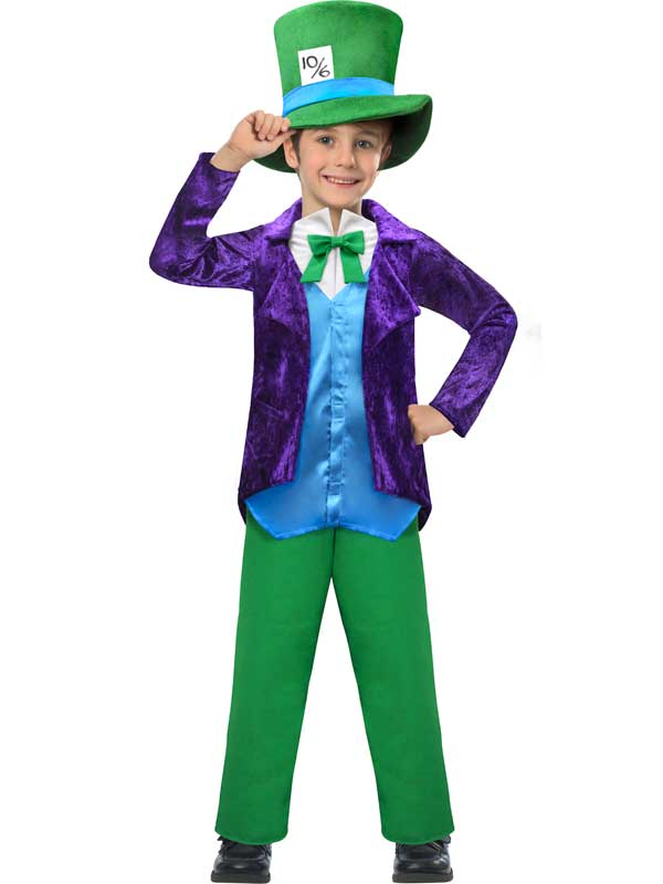 Boys-Top-Mad-Hatter-Costume-Kids-Book-Week-Fancy-Dress-Child-Alice-Outfit-5-10