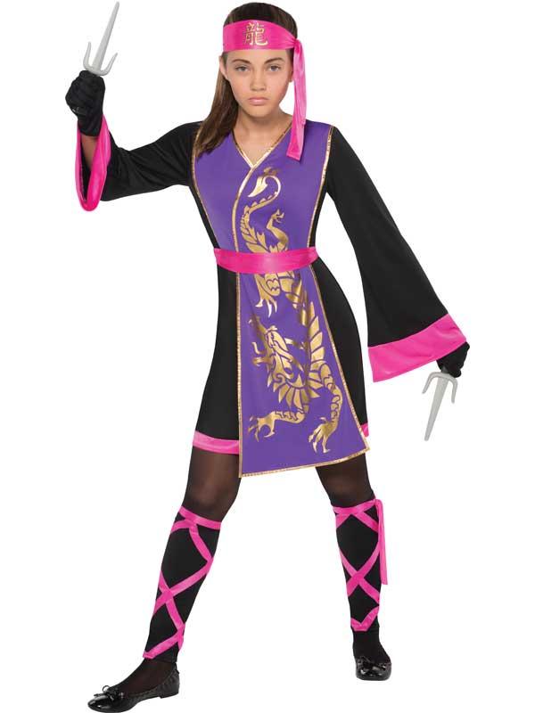 Sentinel Teen Sassy Samurai Warrior Mortal Kombat Girls Fancy Dress Costume Ninja Kids