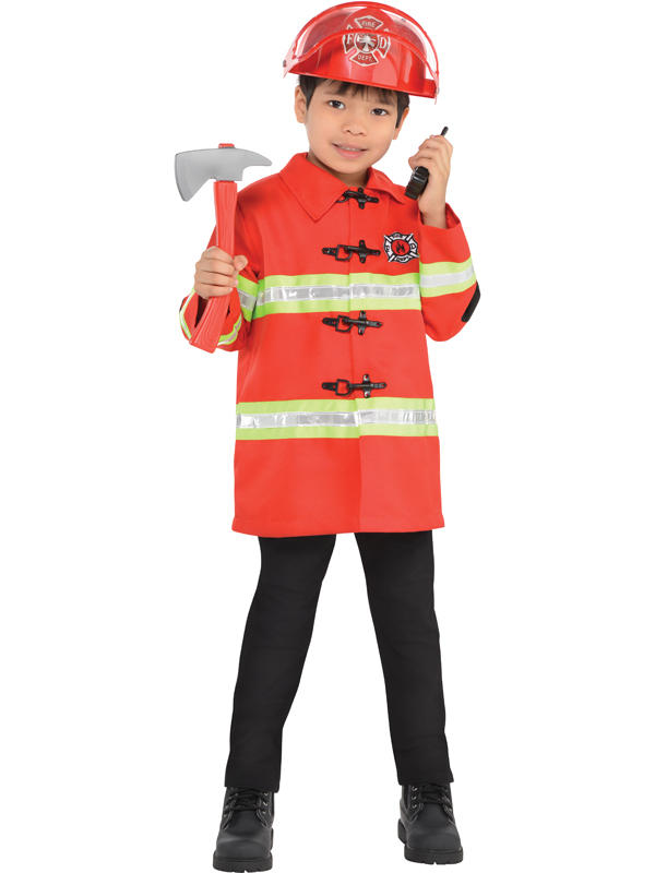 Child New Amazing Me Firefighter Costume Kit Thumbnail 2